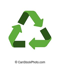 recycling arrows symbol isolated icon