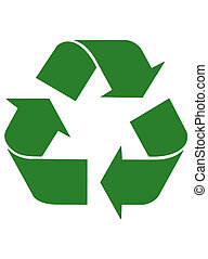 Recycling Arrows - triangular recycling symbol
