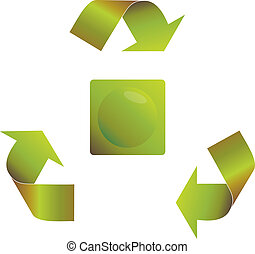Recycling arrows with a round button