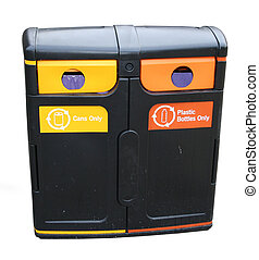 recycling bin for plastic and aluminium