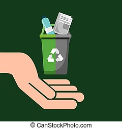 recycling bin garbage selection icon