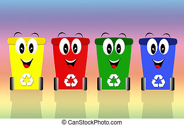 Recycling bins - Recycle bins for ecology