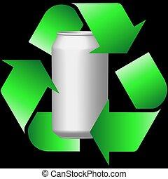 recycling, blikjes