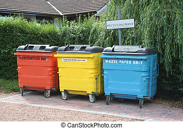 colorful recycling centre