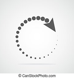 Recycling flat arrow. Vector illustration. Refresh or reload circle arrow isolated.