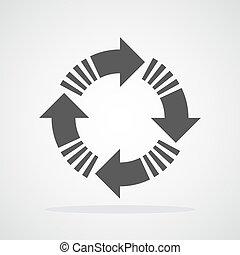 Recycling circle arrow. Vector illustration.
