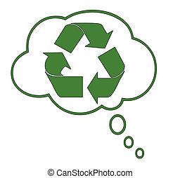 Conceptual Illustration of recycle dreams