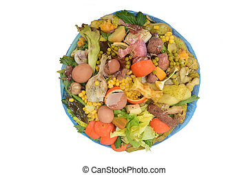 recycling for compost fruits, vegetagles and egg