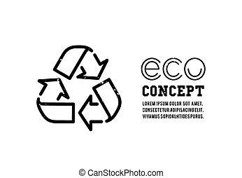 Recycling garbage icons