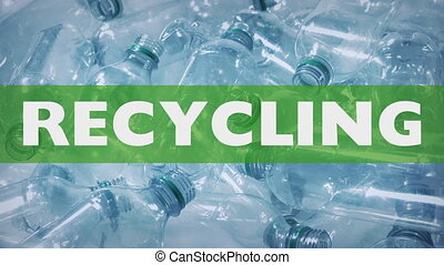 Empty plastic bottles ready for recycling collection