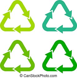 Recycling green arrow symbol