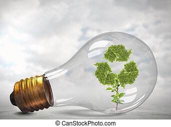 Recycling green concept