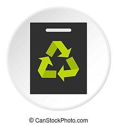 Recycling icon circle