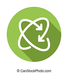Recycling icon, flat style