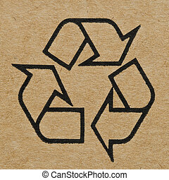 Recycling Mark on the Cardboard