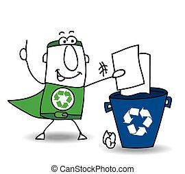 recycling, papier