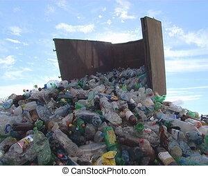 Recycling. PET bottles.