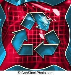 recycling, pictogram, meldingsbord