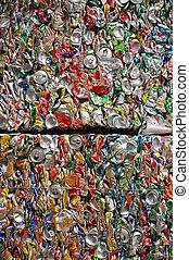 recycling, puszki