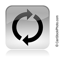 Recycling, reload, web interface icon