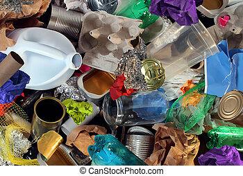recycling, restafval
