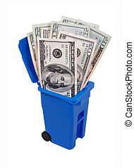 Recycling Saves Money - Recycling saves money shown by a ...