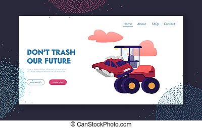 Recycling Scrap Metal Business Landing Page Template. Heavy ...
