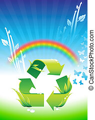 Recycling sign on Rainbow Environmental Conservation...