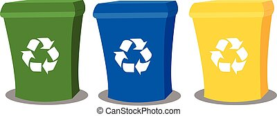 recycling, skrzynie