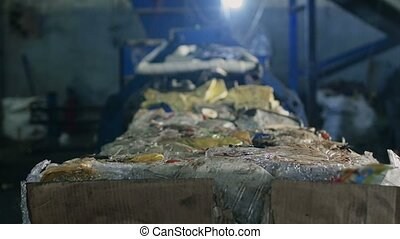 Recycling sorting facility and processes, plant for sorting...