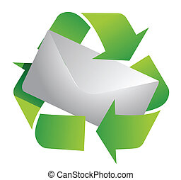 recycling symbol and letter