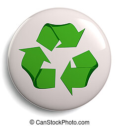 Recycling Symbol Bage Isolated on W