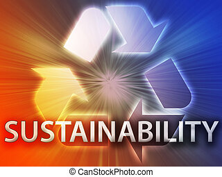 Recycling symbol, eco environment friendly sustainability illustration