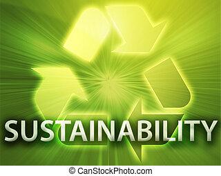 Recycling symbol, eco environment friendly sustainability illustration