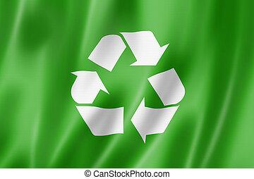 recycling symbol flag