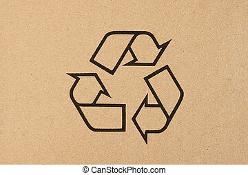 Recycling symbol for cardboard