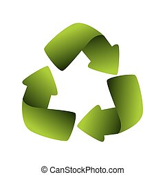 recycling symbol green ecology