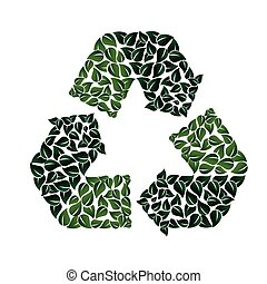recycling symbol icon vector graphic