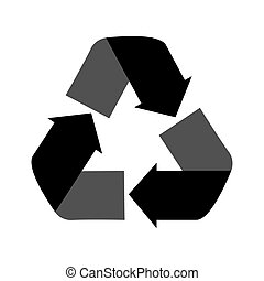 recycling symbol icon vector graphic