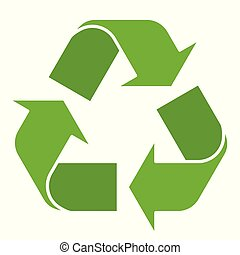 Recycling Symbol Isolated - Vector illustration of green...