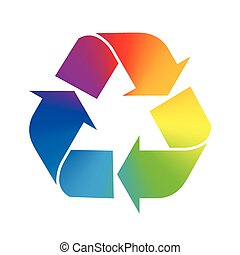 Recycling Symbol Rainbow Colors