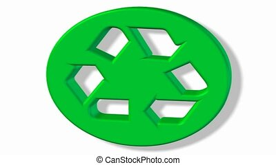 Recycling symbol spinning