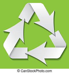 Recycling symbol. Vector illustration
