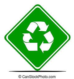 recycling, wegaanduiding