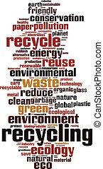 Recycling word cloud