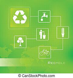 recyklovat, grafické pozadí