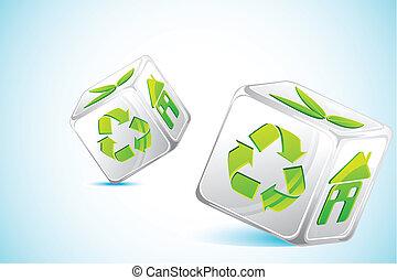 recyklovat, kostky