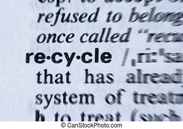 recyklovat, vzkaz, slovník