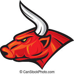 (red, 頭, bull), 雄牛