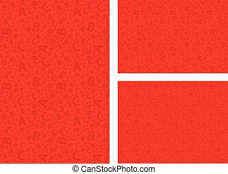 Red 123 number background seamless